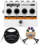 Orange Amps Terror Stamp 20W Hybrid Valve Solid State Guitar Amplifier Bundle with Blucoil 10' Straight Instrument Cable (1/4'), 2-Pack of Pedal Patch Cables, and 4-Pack of Celluloid Guitar Picks