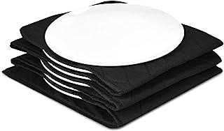 Navaris calentador de platos eléctrico XXL - Calientaplatos de 30 x 30 x 3CM y 32 CM de diámetro - De 200 vatios para calentar 10 platos - En negro