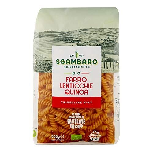 Pasta Sgambaro - Trivelline - Farro, Lenticchie, Quinoa Bio - 500 gr