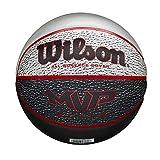 Wilson Pelota de Baloncesto MVP Elite BSKT, Tamaño: 7, Material de Goma, para Uso en Interiores y Exteriores, Gris/Negro/Rojo WTB1460XB07