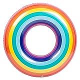 SunnyLIFE Inflatable Pool Float Inner Tube Floating Ring- Rainbow