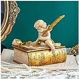 Caja de joyería de Resina Vintage Caja de Almacenamiento de joyería pequeña para Anillos Pendientes ...