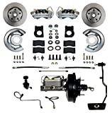 GPS Automotive FC0002-3405A - Power Conversion Kit with 9' Black Booster Cast Iron M/C Adjustable Proportioning Valve - Automatic Transmission