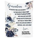 Flannel Blanket – Gift for Grandma, Gigi, Nana, Mamaw, Nonna, Mimi Grandmother, Personalized Fleece Blanket for Birthday, Anniversary, Holiday, Valentine's Day – 1 Sheet(A013)