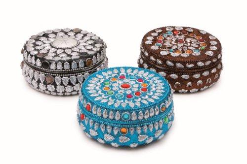 Michel-Toys 8249 Boîte à Bijoux Ronde, Autre, Multicolore
