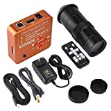 KOPPACE 21MP HDMI USB Industrial Video Microscope Camera Digital Zoom Lens HDMI Output + 100X C Interface Lens for Mobile Phone Repair