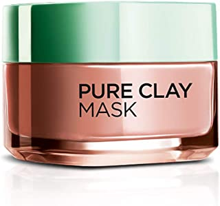 L'Oreal Paris Pure Clay Mask, Exfoliate & Refine Pores, 48ml
