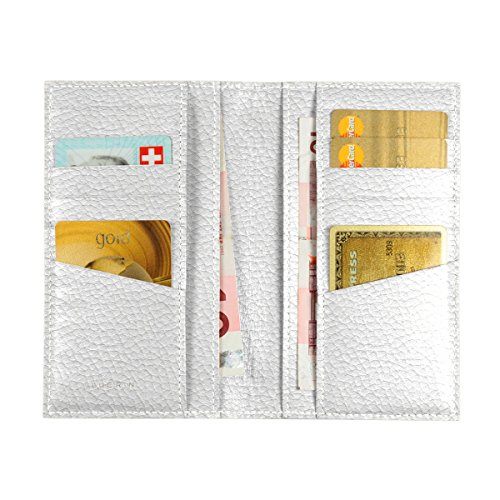 Lucrin - Astuccio per 12 carte di credito, verticale - Vacchetta ruvida - Pelle - Bianco Neve
