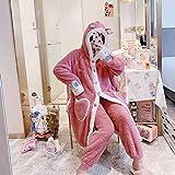 SDCVRE Pijama camisón de Invierno,Autumn WinterWomen Pajamas Warm Thickened Simple Flannel Home Suit Nightgown Household Wear Night Pijamas Dropshipping,6688,XL
