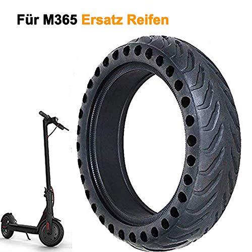 Reifen für Xiaomi M365, Dauerhaft Verschleißfest rutschfest Ersatzräder Bienenwabe Loch Fest Rad Reifen Reifenzubehör Kompatibel mit Xiaomi Mijia M365 Elektroroller