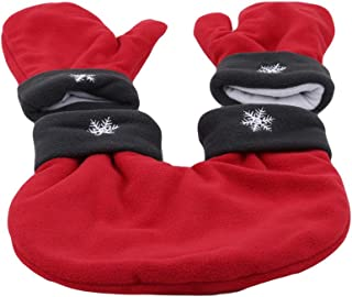 3pcs Creative Warm Holiday Polar Fleece Couple Gloves Lovers Mittens Valentines Gift Winter Thicken Glove Apparel Accessories
