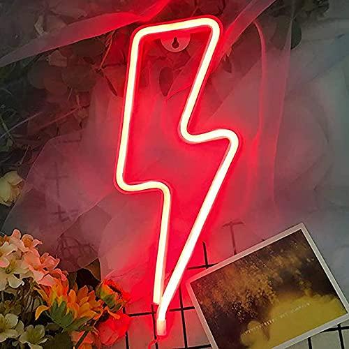 Letrero de Neón con Luz Led Luces de neón para dormitorio USB luces decorativas luces de neón luces decorativas artísticas luz decorativa de pared con batería,rojo