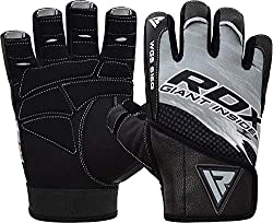 These gym gloves are made with durable goat leather and stretchy Lycra fabric that conforms to the hands for a Secure fit. Amara fabric palm and fingers keep hands well-cushioned and encourage a firm grip. Weightlifting gloves are equipped with shock...