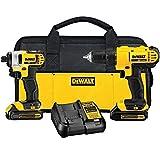 DEWALT 20V MAX Cordless Drill Combo Kit, 2-Tool...