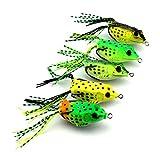 Republe 5PCS / Set 6cm 12g Fishhook Angelhaken Köder Frosch Spinner Elritze...