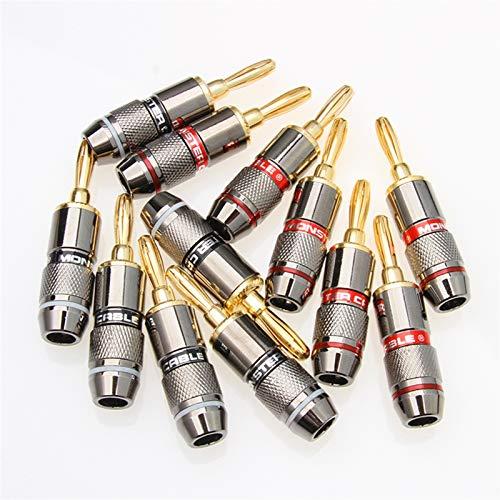YPASDJH 4/8/12PCS Monster Banana Plug 24K Gold Plated Pure Copper Speaker...