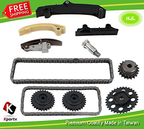 Timing Chain Kit w/Upper Double Row Chain Fits VW Jetta Golf Passat 2.8L V6 SOHC VR6 AAA Engine 1995-99 with Gears