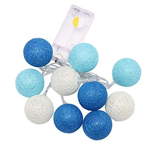 1.3M 10LED Bola de algodón Cadena de luces Fiesta Boda Luces de Navidad Decoración de cobre Fiesta al aire libre Festival de jardín, A