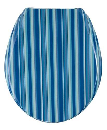 Wenko 17418100 WC-Sitz Change Strips - Edelstahlstahlbefestigung, Duroplast, blau