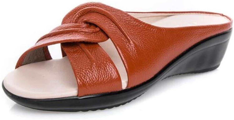Zarbrina Womens Slides Sandals Footwear Summer Flat Soft Comfortable Wedges Heel shoes Comfortable Non-Slip Rubber Sole