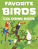 Favorite Birds Coloring Book: Fun Coloring Pages Of Birds For Kids, A Bird Lovers Illustration Journal To Color
