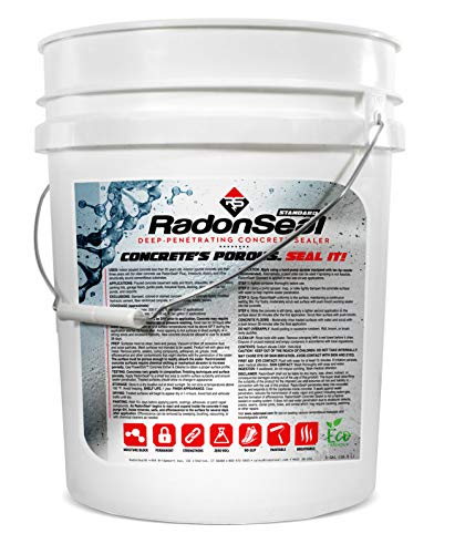 RadonSeal Standard – Deep Penetrating Concrete Sealer (5-gal) | Basement Waterproofing & Radon Mitigation Sealer | Seals Concrete Against Water, Water Vapor, and Radon Gas | Permanent Results!