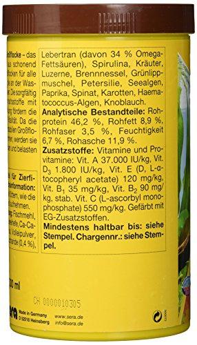 sera 00175 vipan Großflocken 1000 ml –  der Klassiker – Hauptfutter für alle Zierfische in Gesellschaftsaquarien, Flockenfutter, für schönere und größere Fische - 3
