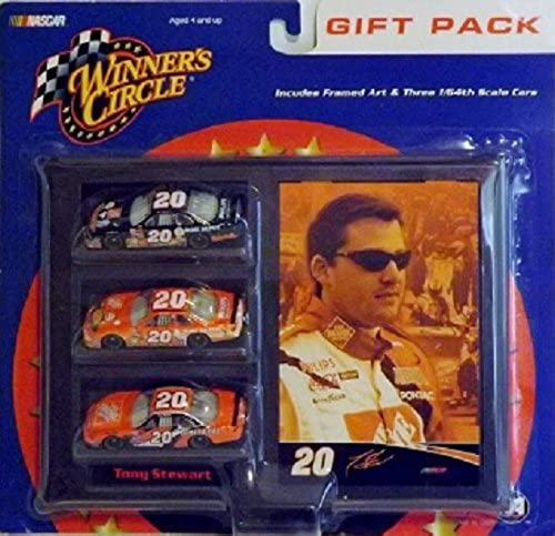 Winners Circle 1 64 scale diecast Gift Pack Tony Stewart framed Art and (3)  20 cars