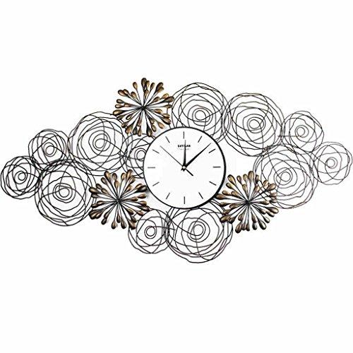 Jack Mall- Ferro Battuto Orologio da parete orologi di moda creativo nuovo salone della casa di arti decorative campana fiori