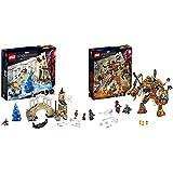 レゴ(LEGO) スーパー・ヒーローズ  ハイドロマンの攻撃 76129 マーベル ブロック おもちゃ 男の子 &  スーパー・ヒーローズ  モルテンマンの戦い 76128 マーベル ブロック おもちゃ 男の子【セット買い】