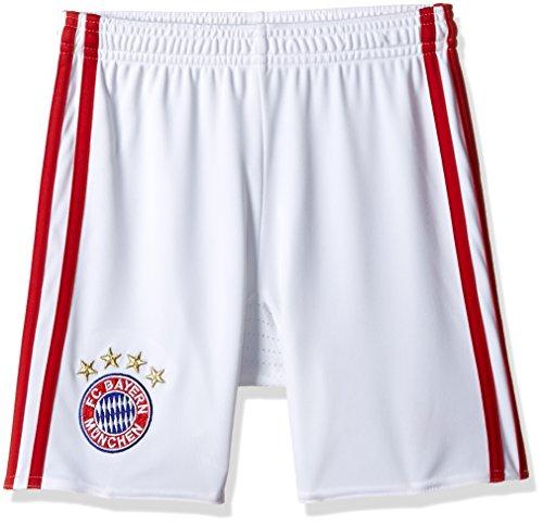 adidas Jungen Fußball/Heim-shorts FC Bayern München Replica Heimshorts, White/Fcb True Red, 164