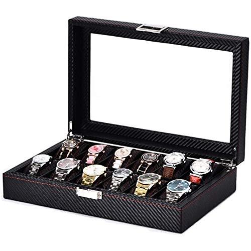 ZHANG Caja de Reloj Caja de Reloj de 12 bits Spot All Caja de Reloj de Cuero Caja de Reloj Joyas