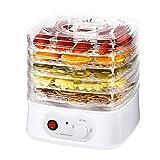 Deshidratador de frutas, verduras y hierbas   Secador de alimentos 250 W   8 programas de secado   4 filtros transparentes   Ventilador de alto rendimiento