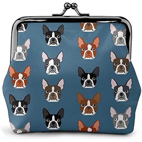 Boston Terriers Caras Azules Perros Lindos Monedero
