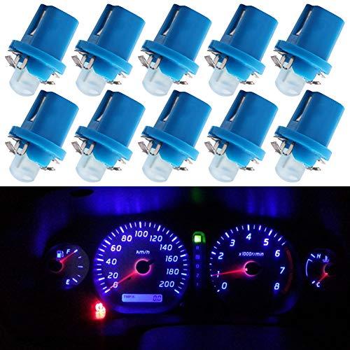 TABEN Bombilla LED COB-1SMD de 12 V, modelo B8.5D, para salpicadero de coche, panel de lectura, color blanco (paquete de 10)