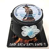 Halloween bath bomb cauldron 4 oz Witch vacation dark brew