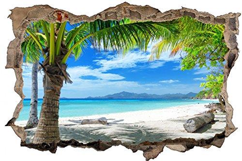 Palmen Meer Strand Beach Karibik Wandtattoo Wandsticker Wandaufkleber D0316 Größe 100 cm x 150 cm