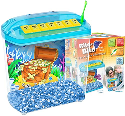 Penn Plax Rite-Bite Educational Tank - For a Betta Education - A Perfect 1st Fish Tank For Children​