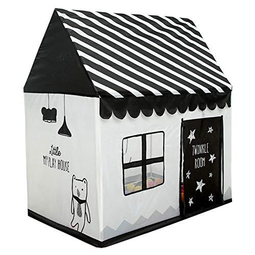 LANHA Play Tents, Kids Cabin Carpa para niños Playhouse Juguetes para Juegos de Interior y Exterior con diseño de Ventana y Bolsa de Almacenamiento Durable 110 x 100 x 70 cm Negro