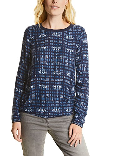 CECIL Damen Bluse 340691, Blau (Deep Blue 30128), Medium