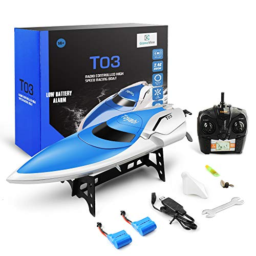 GizmoVine RC Boat High Speed (20MPH+) Remote Control Boats for Pools...