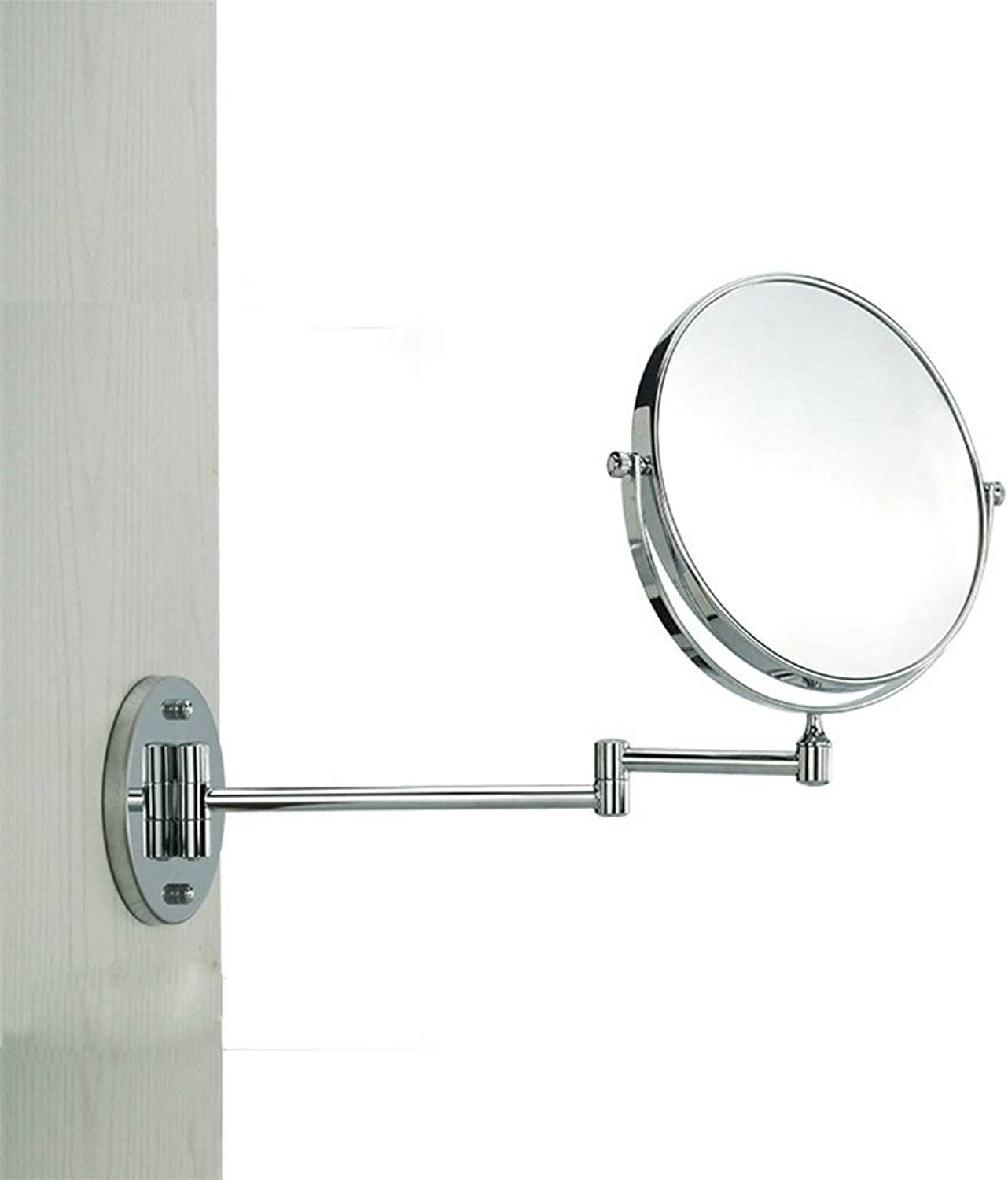 SMC Mirror Wall-Mounted Simple Round Portable Adjustable Folding Mirror Portable Double-Sided Vanity Mirror (color   5 Times)