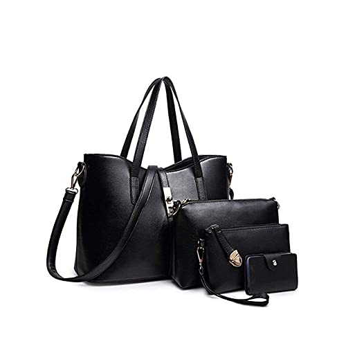 871ee8d41ff6 YTL Women Fashion Synthetic Leather Handbags+Shoulder Bag+Purse+Card Holder  4pcs Set