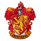 Mono Quick - Aplicaciones de Harry Potter Hogwarts, parche adhesivo para plancha, Gryffindor Slytherin Hufflepuff Ravenclaw (18068 - Gryffindor)