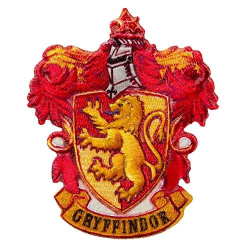 Mono Quick - Harry Potter Hogwarts Applikationen, Bügelbild Aufkleber Patch, Gryffindor Slytherin Hufflepuff Ravenclaw (18068 - Gryffindor)
