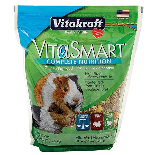 Vitakraft VitaSmart Guinea Pig Food - High Fiber Timothy Formula, 4 lb