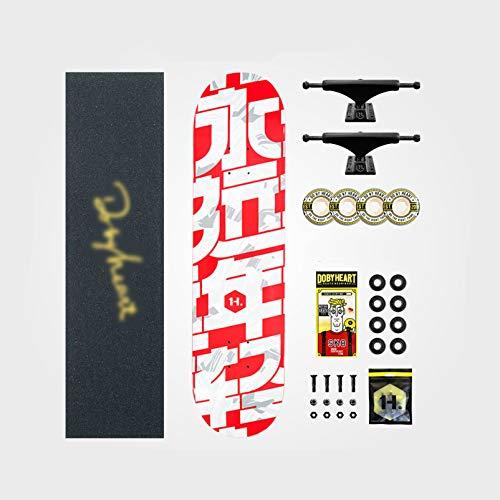 IJNBHU Tabla De Skate Natural, 31'x 7.8' Skateboard para Principiantes, Cubierta de Arce Duro de 7 Capas, para niños Principiantes y Adultos jóvenes confirmado, Unisex Adulto
