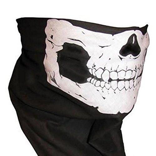Masque motif squelette / tête de mort pour skieur, motard, cyclistes, paintballeur