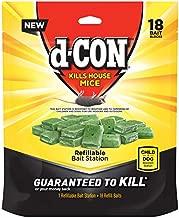 d-CON Refillable Corner Fit Mouse Bait Station, 1 Trap + 18 Bait Refills