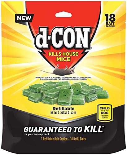 D-con Corner Fit Mouse Poison Bait Station, 18 Count